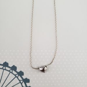 Sterling Silver Puffed Mini Heart Pendant Necklace